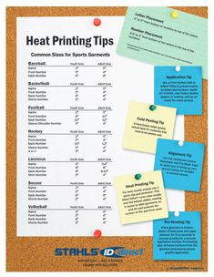 For more heat printing tips visit: www.stahls.com/design-placement-tips Download for easy reference later: http://www.stahls.com/stahls/09/pdf/heatprinting_tips.pdf