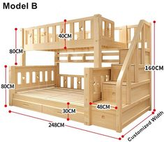 Louis Mode Kinder Etagenbett Echte Kiefer Holz mit Leiter Treppen Schubladen Sic… Louis Mode Kids Bunk Bed Genuine Pine Wood with Ladder Stairs Drawers Safe and Strong Bunk Beds With Stairs, Kids Bunk Beds, Cool Bunk Beds, Bunk Bed Ideas For Small Rooms, Pallet Bunk Beds, Full Size Bunk Beds, Safe Bunk Beds, Childrens Bunk Beds, Wooden Pallet Beds