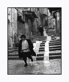 In the Muslim Quarter of East Jerusalem.Pedestrin the Muslim Quarter of East Jerusalem.