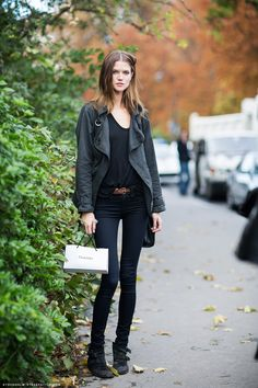 Kasia Struss #streetstyle #fashion #modeloffduty