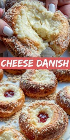 Easy Cheese Danish - Let the Baking Begin! - Cheese Danish is a pillowy soft breakfast pastry that's perfect for eating any time of day. A ric - Cream Cheese Pastry, Cream Cheese Filling, Cream Cheese Muffins, Köstliche Desserts, Delicious Desserts, Dessert Recipes, Puff Pastry Recipes, Pastries Recipes, Puff Pastry Desserts