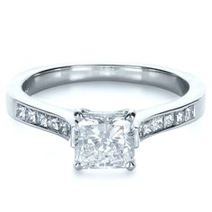 Engagement Rings / Princess Cut Diamond Engagement Ring - Custom Design Jewelers of Seattle and Bellevue - Joseph Jewelry