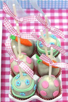 Sweet cake pops Easter Cake Pops, Easter Egg Cake, Easter Party, Sweet Cakes, Cute Cakes, Yummy Cakes, Cake Pops Image, Cake Cookies, Cupcake Cakes