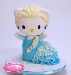 Hello Kitty Elsa Frozen cake