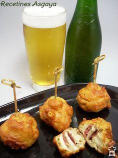 RECETINES ASGAYA: Brochetas de Champiñones y Jamón a la Cerveza