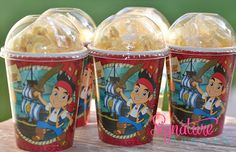 Jake and the Neverland Pirates Party-Woody Birthday Party Cups-Popcorn Box-Set of 8 on Etsy, $10.40