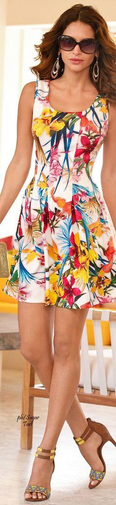 @roressclothes clothing ideas   #women fashion floral midi dress Vestidos | Verão