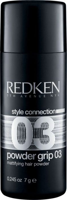 Redken Powder Grip 03 (great for adding texture to otherwise slippery hair)