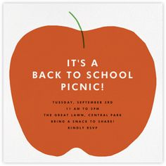 Seasonal - Autumn Occasions - Back to School Invitations - Paperless Post
