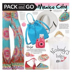 """""""Pack and Go: Mexico City"""" by katjuncica ❤ liked on Polyvore featuring Aquazzura, Calypso Private Label, Furla, Topshop, Plane and Packandgo"""