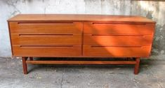 Danish Modern Dresser - $475 Low Dresser, Modern Dresser, Home Decor Bedroom, Modern Bedroom, Design Lounge, Bedroom Dressers, Danish Modern, Funny Design, Teak