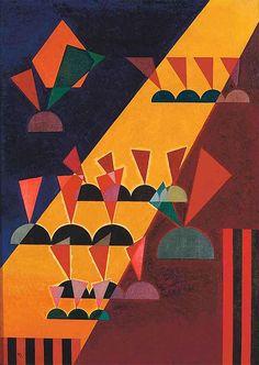 Wassily Kandinsky 1927 -Kort na zijn terugkeer in Duitsland aan het einde van 1921, krijgt Kandinsky een uitnodiging ontvangen om leraar aan het Bauhaus in Weimar te worden. Dit was een experimentele school, waarbij voor de opleiding van meesters van toegepaste kunst, een nieuw systeem van onderwijs.