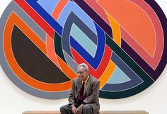 """Artist Frank Stella in front of his painting titled """"Firuzabad"""", a 1970 acrylic on canvas. Painter Frank Stella with his work that is hanging at the SFMOMA. Liz Mangelsdorf / The Chronicle Photo: Liz Mangelsdorf Work In New York, New York Art, Arte Madi, Frank Stella Art, Abstract Expressionism, Abstract Art, Geometric Painting, Geometric Shapes, Kenneth Noland"""