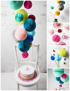 Decoration 'Honeycomb Balls' byENGEL.  http://t-h-i-n-g-s.blogspot.com