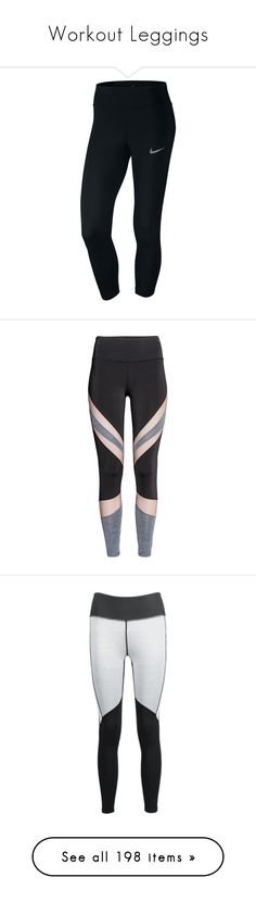 """""""Workout Leggings"""" by gymholic ❤ liked on Polyvore featuring activewear, activewear pants, black, nike activewear, nike activewear pants, nike sportswear, nike, pants, leggings and fitness"""