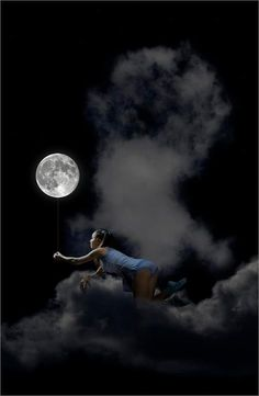 to me this represents the strength and imagination of youth...that you can hold the moon on a string.