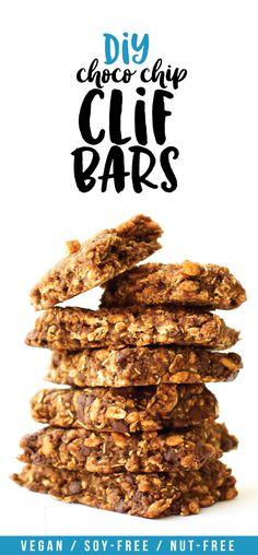 Homemade Clif Bars   Vegan, Gluten-Free, Chocolate Chip Recipe