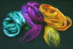 Space Dyeing in the Microwave with Acid Dyes [recipe for white and pale protein fibers]