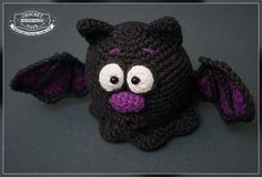 Amigurumi Halloween Free : Brook the tiny bat lovey pattern by carolina guzman bats pattern