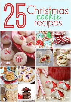 25 Christmas Cookie Recipes on SixSistersStuff.com - this is an amazing collection of recipes!