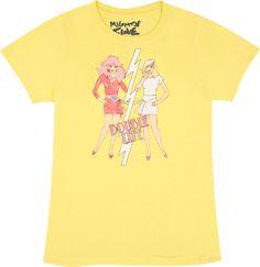 "HIGH SCHOOL MUSIC 100/% COTTON Yellow Short Sleeve /""SHARPAY/"" Tee GIRL SIZES NWT"
