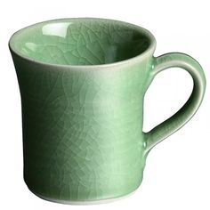 Simon Pearce Belmont Crackle Celadon Mug