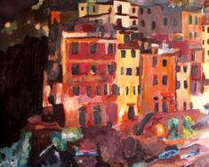 Magic Cinque Terre Night in Riomaggiore - Limited Edition Fine Art Print