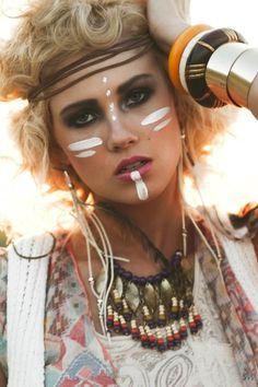 Joe the indian halloween tribal makeup, indian face paints и Tribal Makeup, Boho Makeup, Hair Makeup, Indian Face Paints, Tribal Face Paints, Visage Halloween, Indian Makeup Halloween, Amber Rose Hair, Make Carnaval