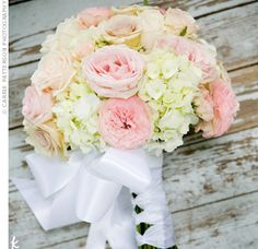 hydrangea and garden rose bouquet - Garden Rose And Hydrangea Bouquet