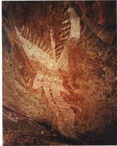 Australia - Western Arnhem land - Rainbow serpent rock drawing