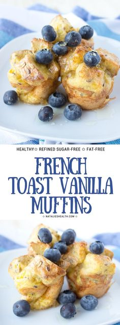 Oven baked French Toast Vanilla Muffins are perfect EASY breakfast your whole family will love. Soft, delicious and healthier than classic French Toast. Whole Grain, fat-free, refined sugar-free and just yummy.#healthy #healthyrecipe #healthylife #weightlossrecipe #familymeal #kidsfriendly #breakfast #sugarfree #wholegrain #muffins | NATALIESHEALTH.COM