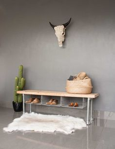 Wire Shoe Rack Bench by InekoHome on Etsy