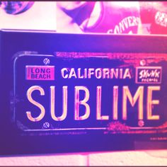 Rock out with this Sublime Magnet! This product is a 2 x 3 magnet depicting a California License Plate number SUBLIME with Long Beach and Skunk Records stickers.