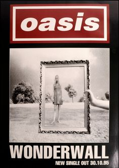 Wonderwall' is still regarded as Oasis' greatest song; it was written by Noel Gallagher for the band's second album: (What's the Story) Morning Glory and released in Pop Rock, Rock N Roll, Banda Oasis, Oasis Album, Wonderwall Oasis, Oasis Band, Rock Band Posters, Noel Gallagher, Pochette Album