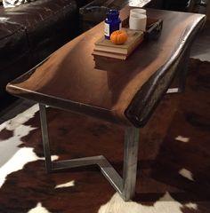 Live Edge Black Walnut Coffee Table by GrainAndBurl on Etsy