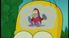 the simpsons homer simpson monkey stupid brain thinking Homer Simpson, The Simpsons, Monkey Gif, Love Calculator, Nerd, Futurama, Animated Gif, Funny Pictures, Anime