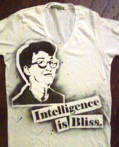 c595aac31 Rachel Maddow Intelligence is Bliss hand stenciled vneck tshirt by  rainbowalternative, $22.00 Rachel Maddow,