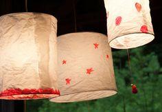 Rice Paper Lanterns on Creativebug