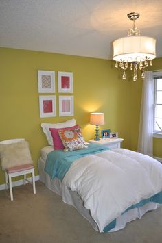 yellow turquoise bed - Google Search