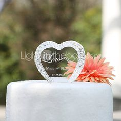 Personalized Crystal Heart Wedding Cake Topper http://www.shareasale.com/m-pr.cfm?merchantID=51900&userID=1014066&productID=550569571