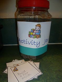 Activity jar and free printable of things you can do but don't everyday...added fun