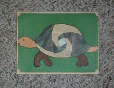 Turtle Iris-Folded Card by FoldsWithLoveByHolly on Etsy, $4.00