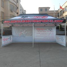 Pop Up Advertising Gazebo Tent for Moto Racing Events