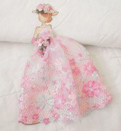 PreMade Scrapbook Prima Julie Princess Paper Doll Paper Piecing by Becky #HandmadeShabbyCottage