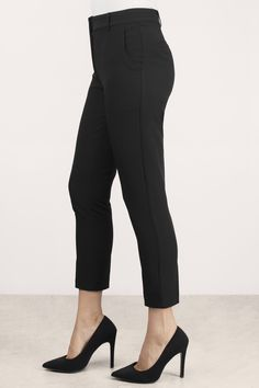 New Arrivals, Tobi, Black Leon Straight Leg Pants