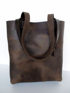 Dark Brown Leather Tote Bag - Brown Leather Bag - Brown Leather Bag- Leather Tote- leather tote,brown leather tote