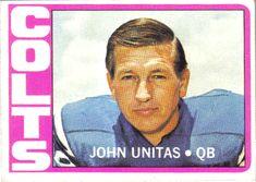 Football Cards, Nfl Football, Football Players, Baseball Cards, Johnny Unitas, Baltimore Colts, Vintage Football, Nfl Jerseys, National Football League