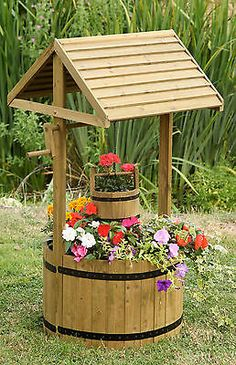 Plans for a wooden wishing well | PDF downloadable file ...