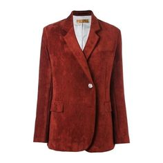 GOLDEN GOOSE DELUXE BRAND Corduroy Blazer ($800) ❤ liked on Polyvore featuring outerwear, jackets, blazers, bordeaux, corduroy blazer jacket, red corduroy blazer, cordoroy jacket, red blazer jacket and red blazer