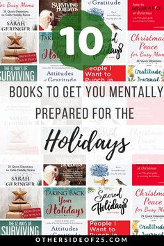 From the Other side of 10 Books to get you mentally prepared for this year's holiday season. Books for all holidays and celebrations. Reading Lists, Book Lists, Beach Reading, Book Lovers, Books To Read, How To Become, Stress, Feelings, Christmas Mood